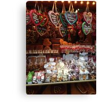 Gingerbread Stall Canvas Print