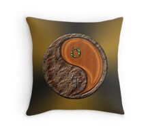 Taurus & Horse Yang Wood Throw Pillow