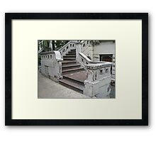 Old Rowhouse Steps Framed Print