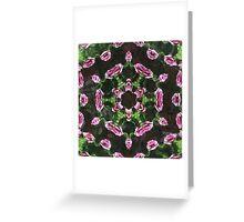 Rosas Moradas 2 Kaleidoscope 9 Greeting Card