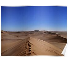 Where dunes and sky come together  Poster