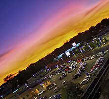 Sunset Over Used Car Lot by SeRVE