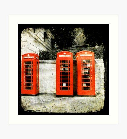 telephone booths Art Print
