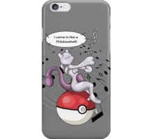 pokemon mewtwo wrecking ball anime shirt iPhone Case/Skin