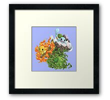 pokemon charmander bulbasaur squirtle anime chibi shirt Framed Print