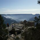 A Misty Grand Canyon  by madamecrow