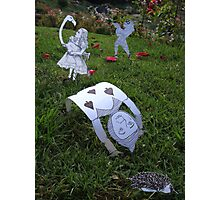 Alice and the Croquet Game Photographic Print