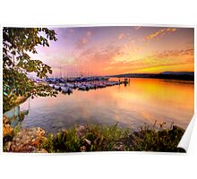 Sunrise over the LAke Poster