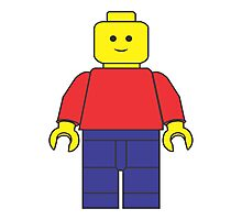 Original Lego Mini Figure Photographic Print