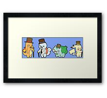 pokemon pikachu squirtle bulbasaur charmander chibi anime shirt Framed Print