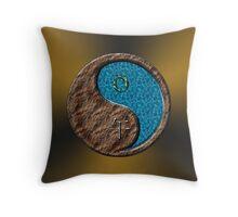 Taurus & Horse Yang Water Throw Pillow