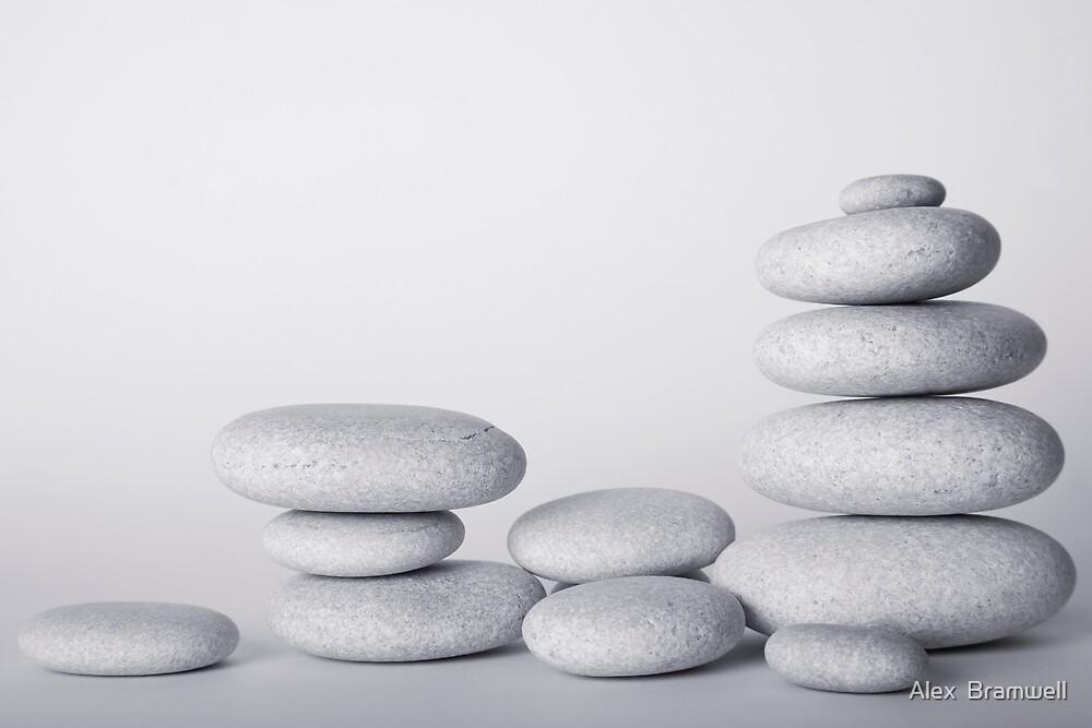 High Key Zen Pebble Still Life by Alex  Bramwell
