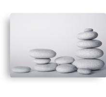 High Key Zen Pebble Still Life Canvas Print