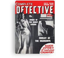 Pulp Detective Lover Canvas Print