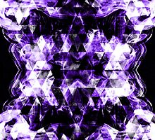 Electrifying purple sparkly triangle flames by PLdesign