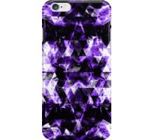 Electrifying purple sparkly triangle flames iPhone Case/Skin