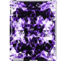 Electrifying purple sparkly triangle flames iPad Case/Skin