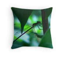 Silhouette of a Damselfly (Suborder Zygoptera) Throw Pillow