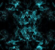 Triangle Geometric Turquoise Smoky Space by PLdesign