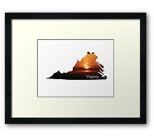 Virginia sunset with words Framed Print