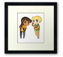 Superhero BFFs Framed Print