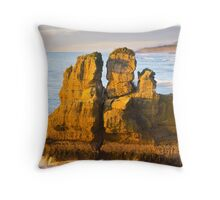 Sea stack at Punakaiki Throw Pillow