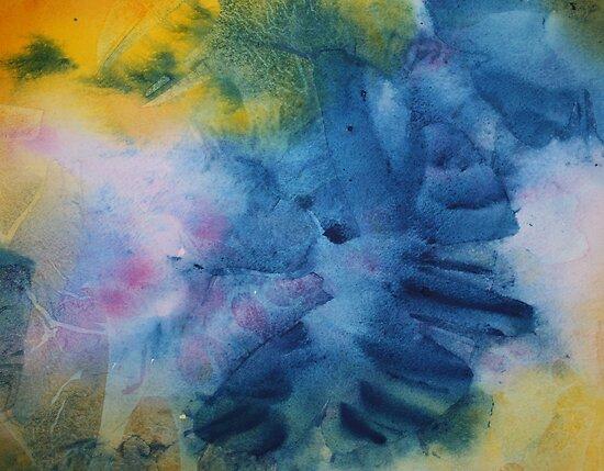 Watercolour: Blue Moth by Marion Chapman