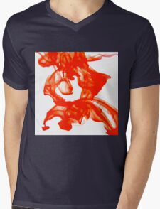 Water red Mens V-Neck T-Shirt