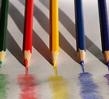 Painting pencils by Anna D'Accione