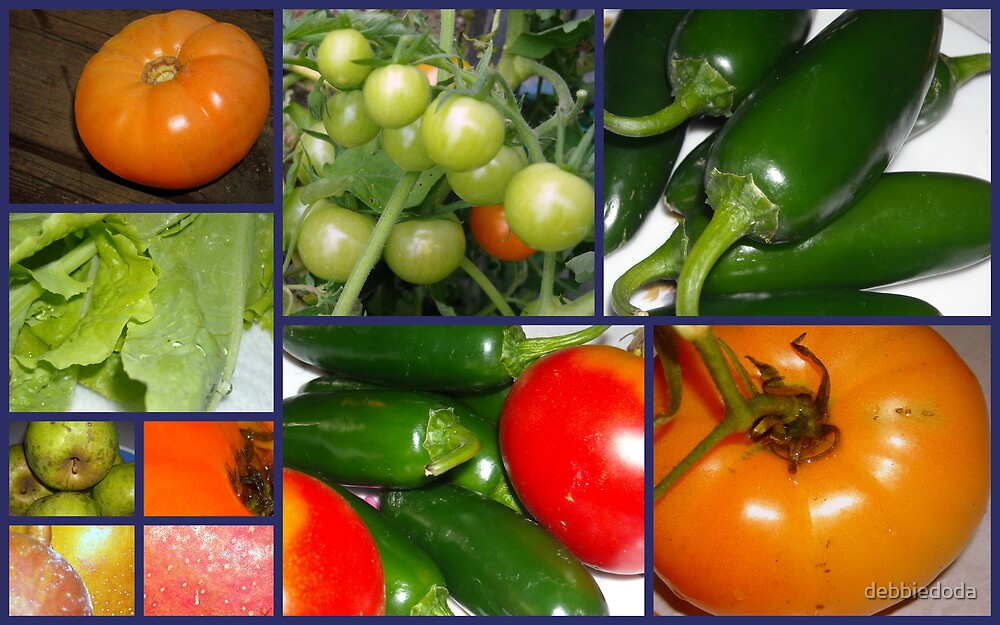 Produce From The Garden by debbiedoda
