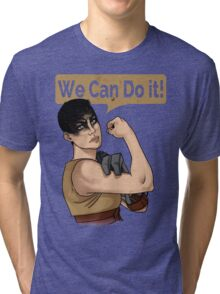 SHE can do it! Tri-blend T-Shirt