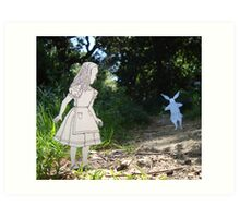 Alice and the White Rabbit Art Print