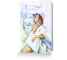 The last rays of the sun. Greeting Card