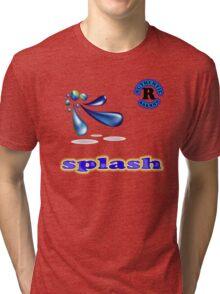 Splash tee-shirt and stickers Tri-blend T-Shirt