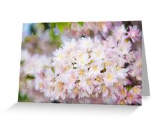 Painted spring flowers Greeting Card
