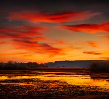 denman fire pond  rogue valley by daledaniel
