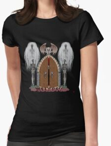GOTHIC DOORS/ WELCOME Womens Fitted T-Shirt