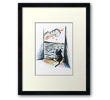 Sweet Cat's View Framed Print