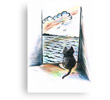 Sweet Cat's View Canvas Print