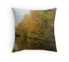 Autumn colours in reflection Throw Pillow