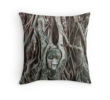 Buddha head of Ayutthaya Throw Pillow