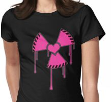 Isotopic love - Nuclear heart symbol Womens Fitted T-Shirt
