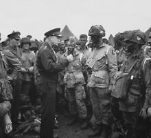Ike Talking With Airborne On D-Day by warishellstore