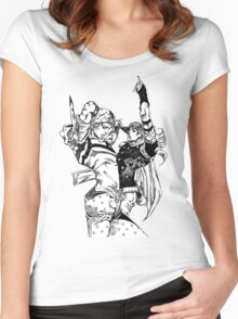 Steel Ball Run - Johnny Joestar and Gyro Zeppeli Women's Fitted Scoop T-Shirt