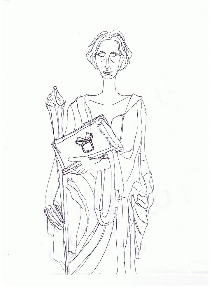 Sketch of masonic figure by LordMasque