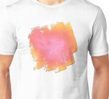 Ribbons of White Pink and Yellow Unisex T-Shirt
