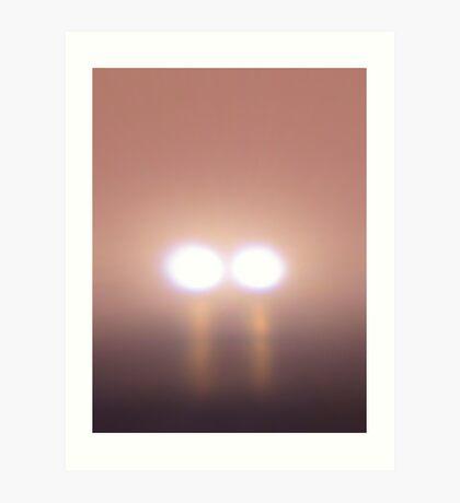 Eerie Lights In The Fog Art Print