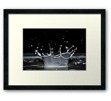 Milk Crown Framed Print
