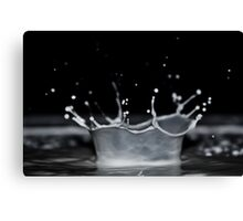 Milk Crown Canvas Print