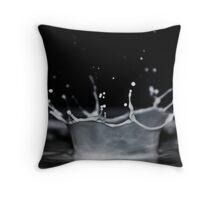 Milk Crown Throw Pillow